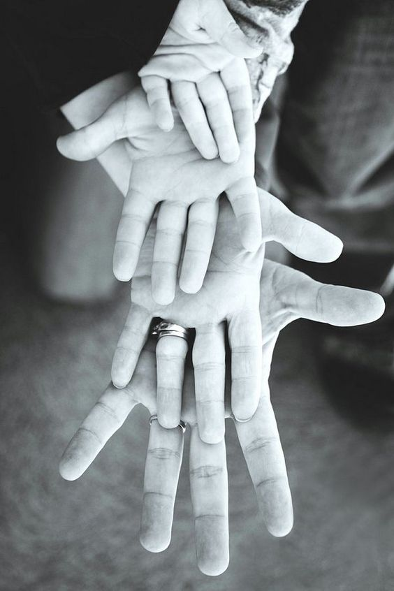 Family hands photo idea
