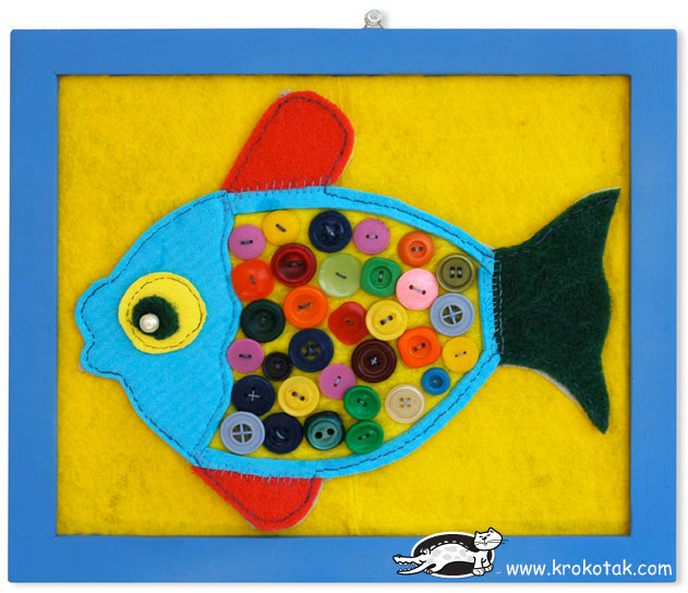 Felt and button fish