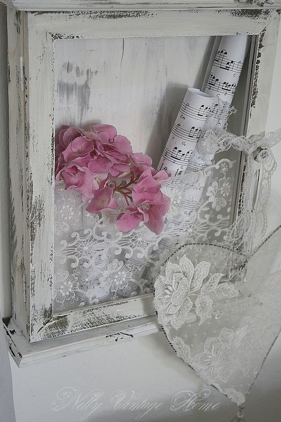 Flowers, sheet music, and lace