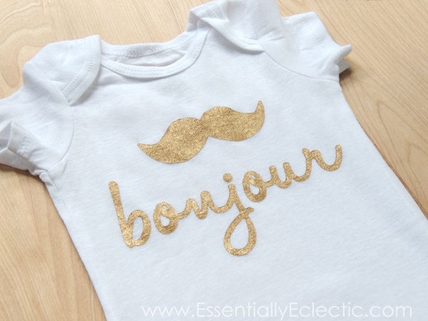 French mustache onesie