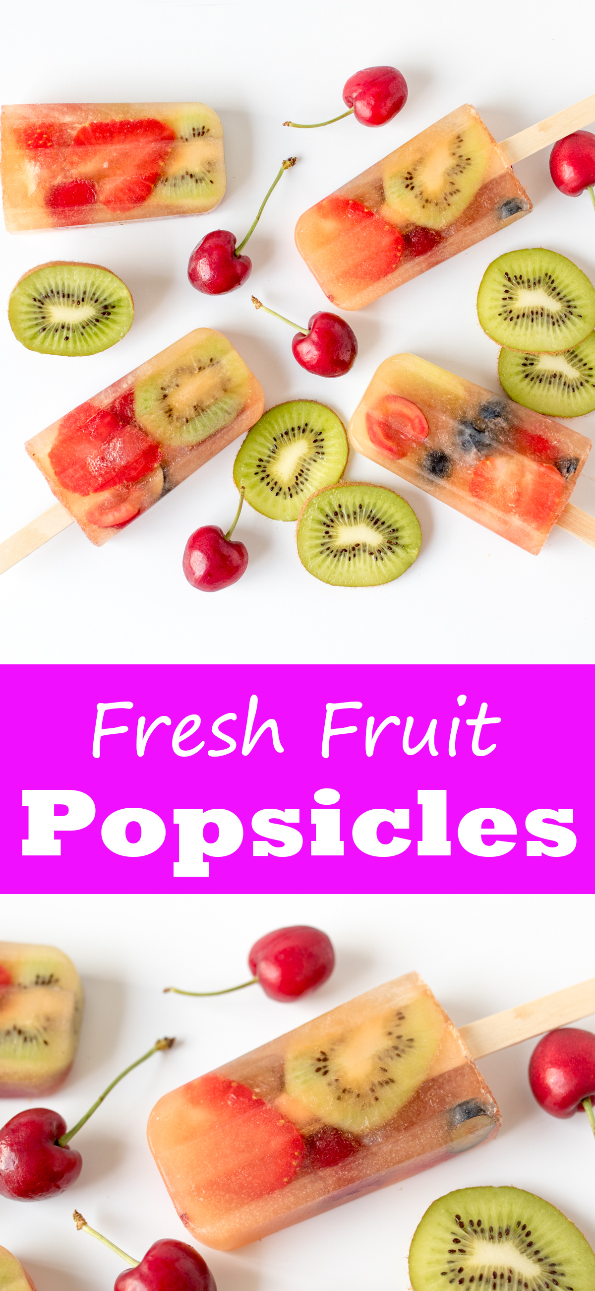 These fruity popsicles are a real hit with the kids - and they're healthy too!