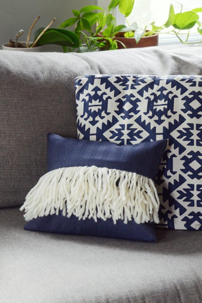 Fringe pillow cover