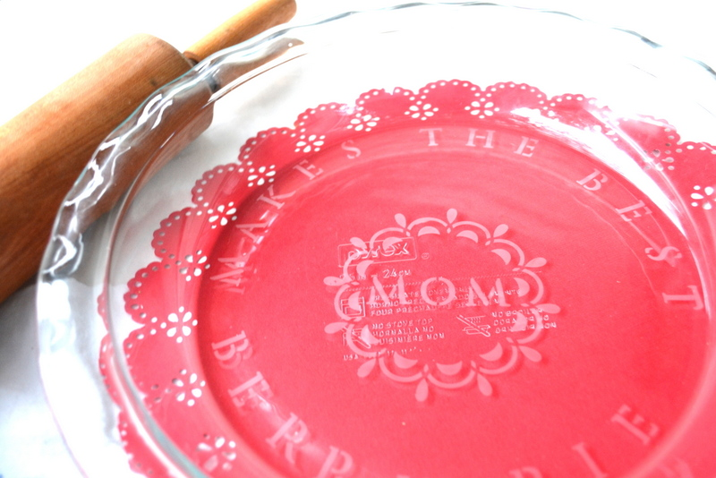 Glass etched mother's day gift