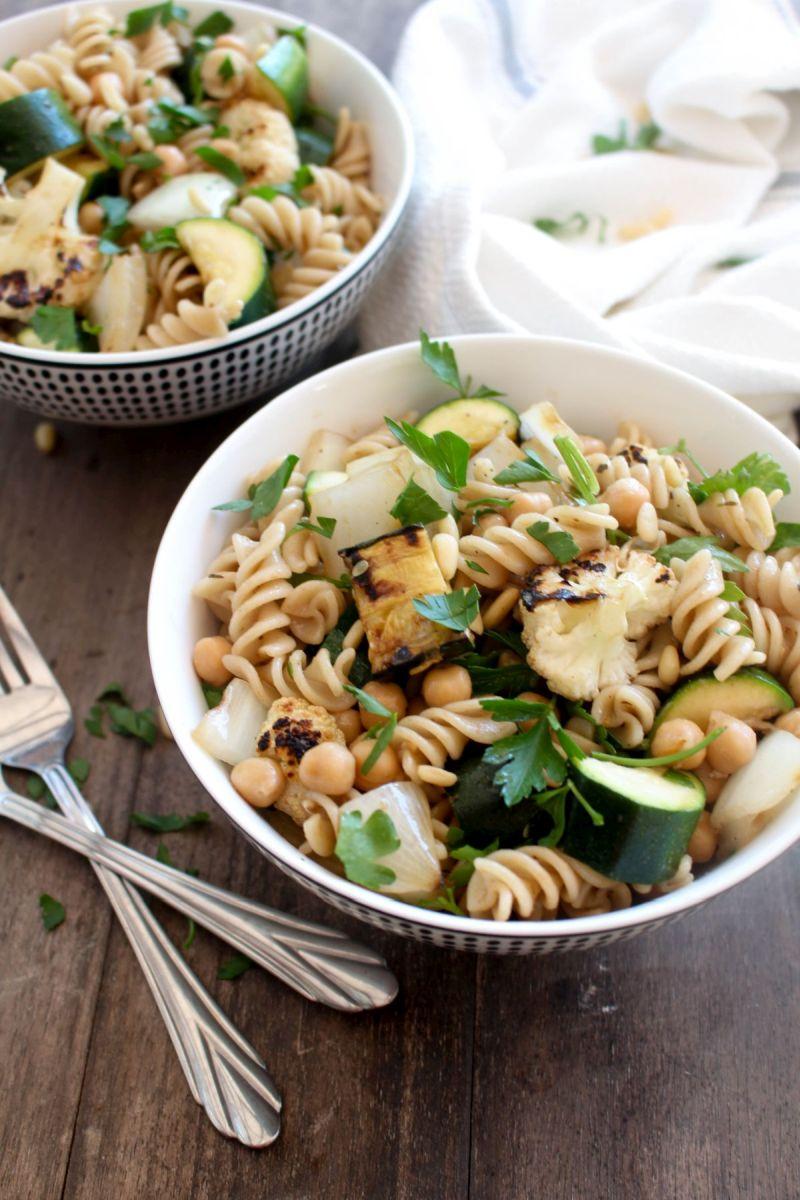 Grilled vegetable pasta salad recipe