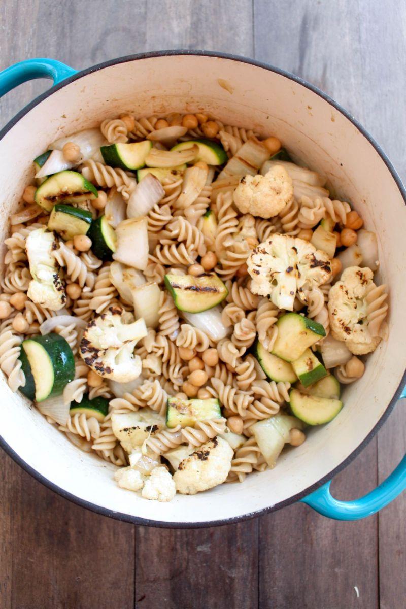 Grilled vegetable pasta salad add grilled veggies