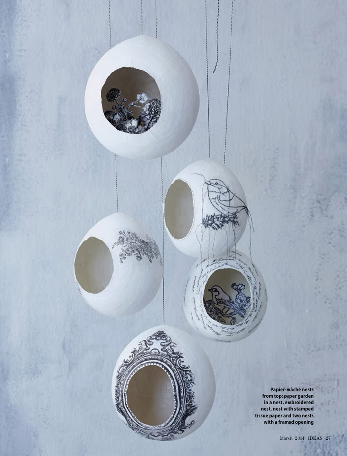 Hanging bird nest scenes