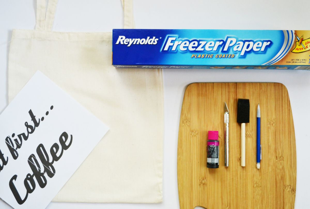 How to freezer paper stencilling supplies