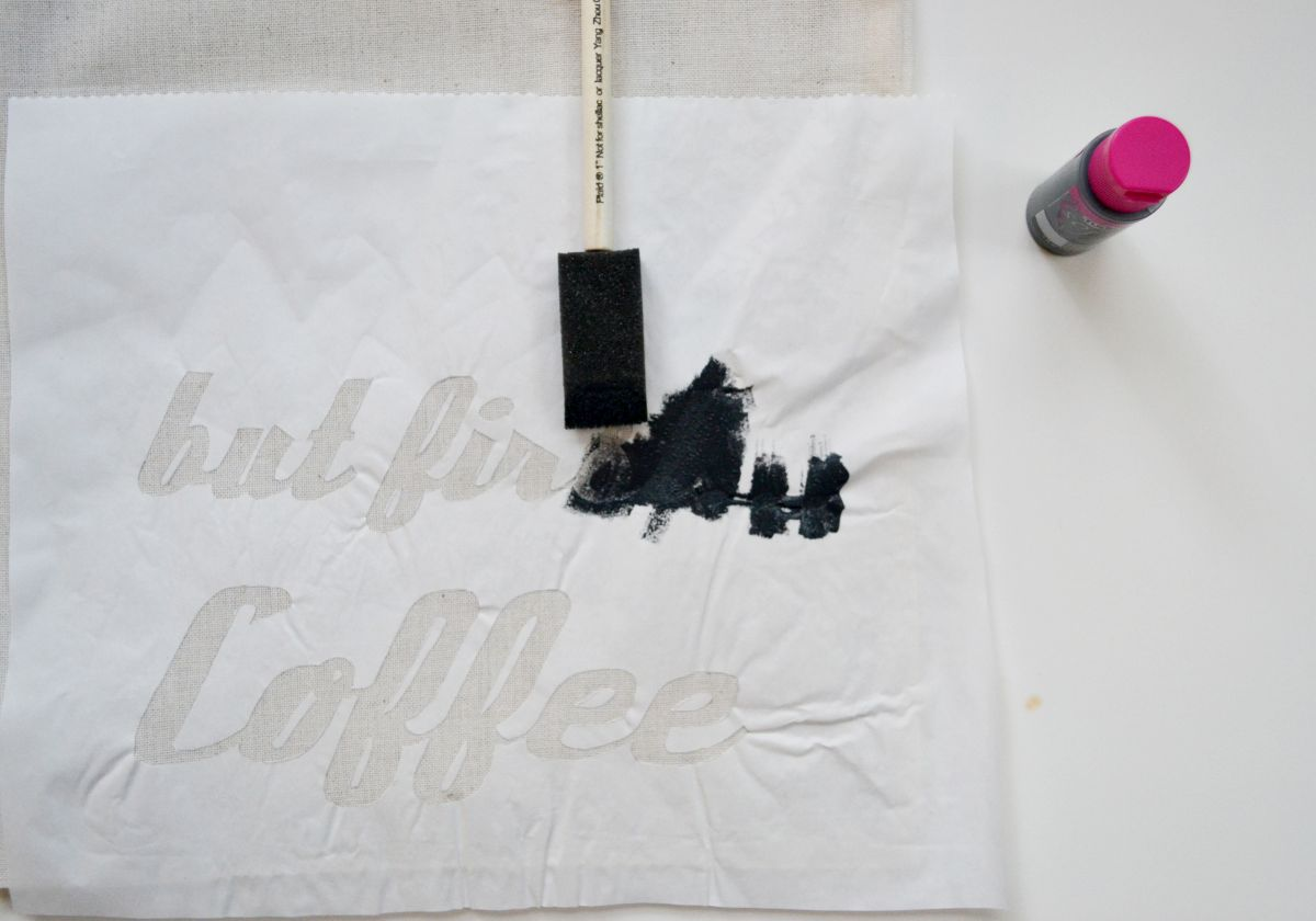 How to freezer paper stencilling dirty process