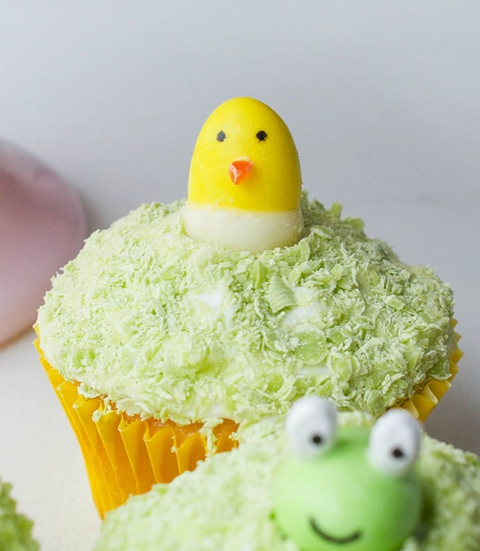 Jelly bean easter animal cupcakes