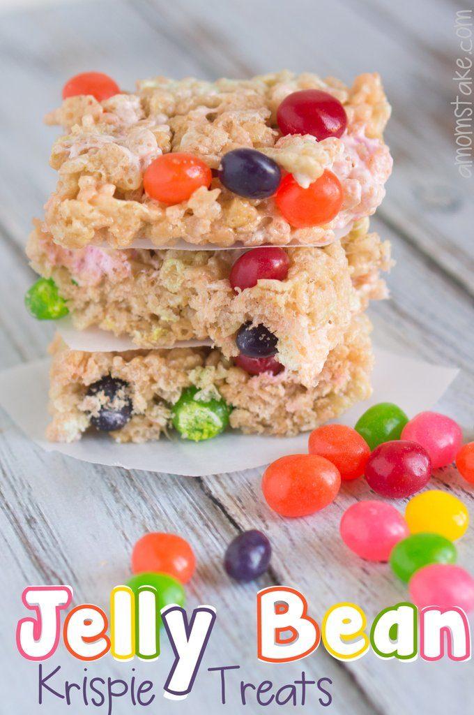 Jelly bean rice krispy treats
