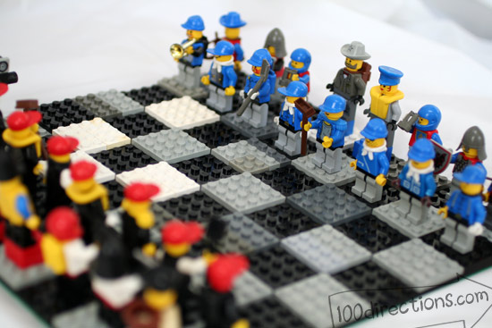 Lego chess game blue team