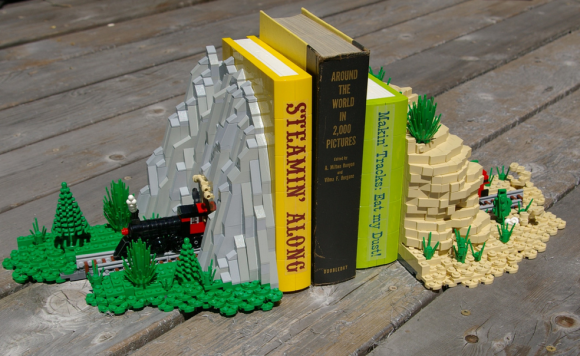 Lego bookends