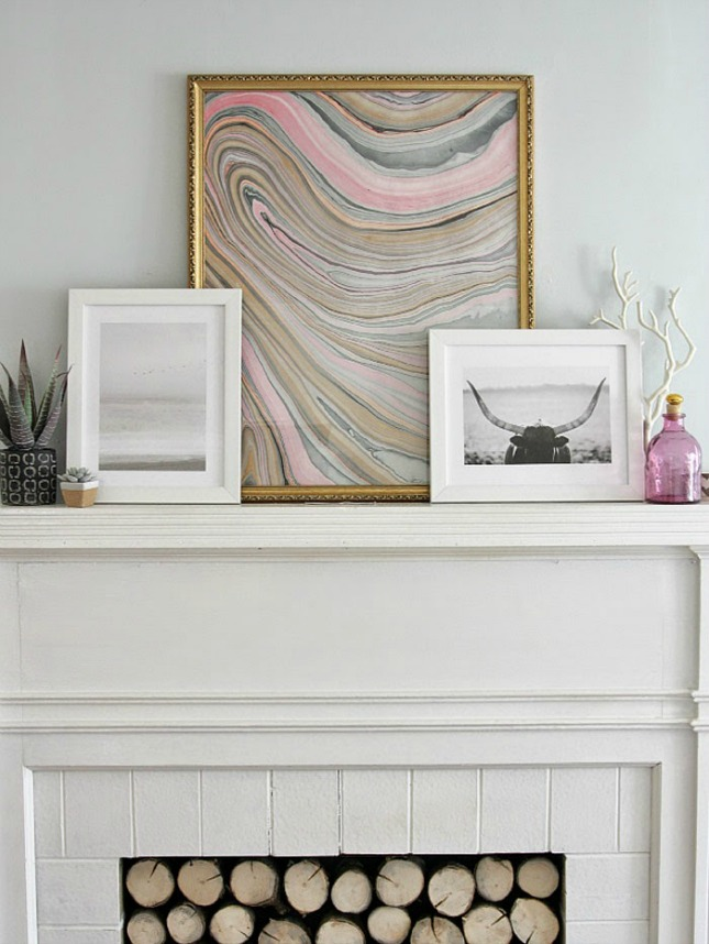 Marbled frame wall art