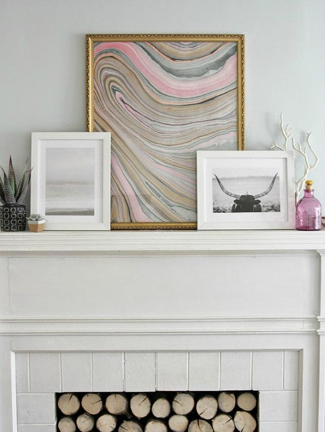 Marbled frame wall art