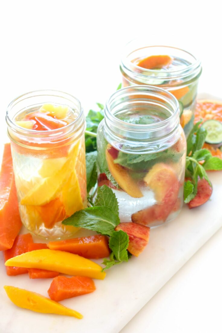 Mason jars infused water