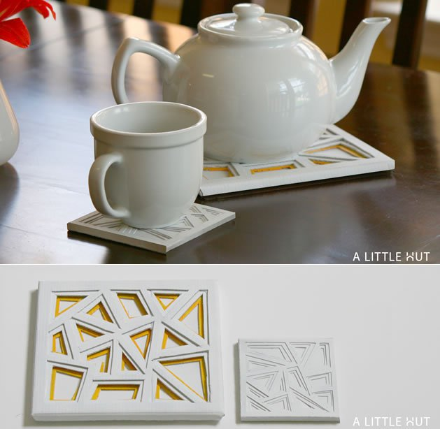 Mod trivet and coaster set