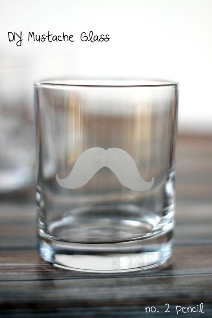 Mustache glass
