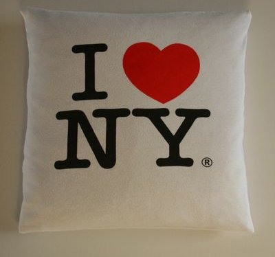Nyc t shirt pillow case