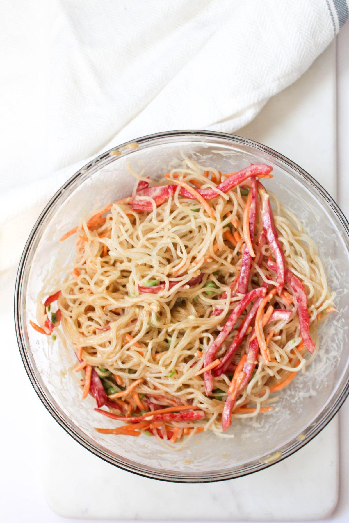 No cook noodle bowl toss