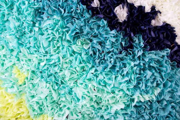 Ombre tissue paper backdrop