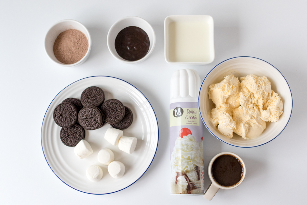 Oreo coffee milkshake ingredients