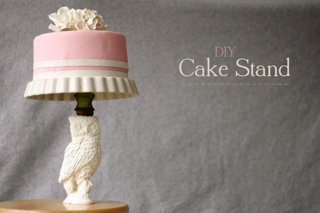 Owl statue DIY cake stand & 15 Awesome DIY Cake Stands