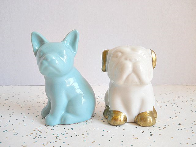 Painted and metallic pup shakers