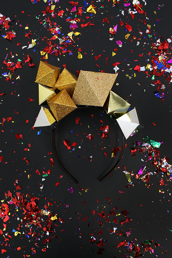 Paper geometric hairband crown