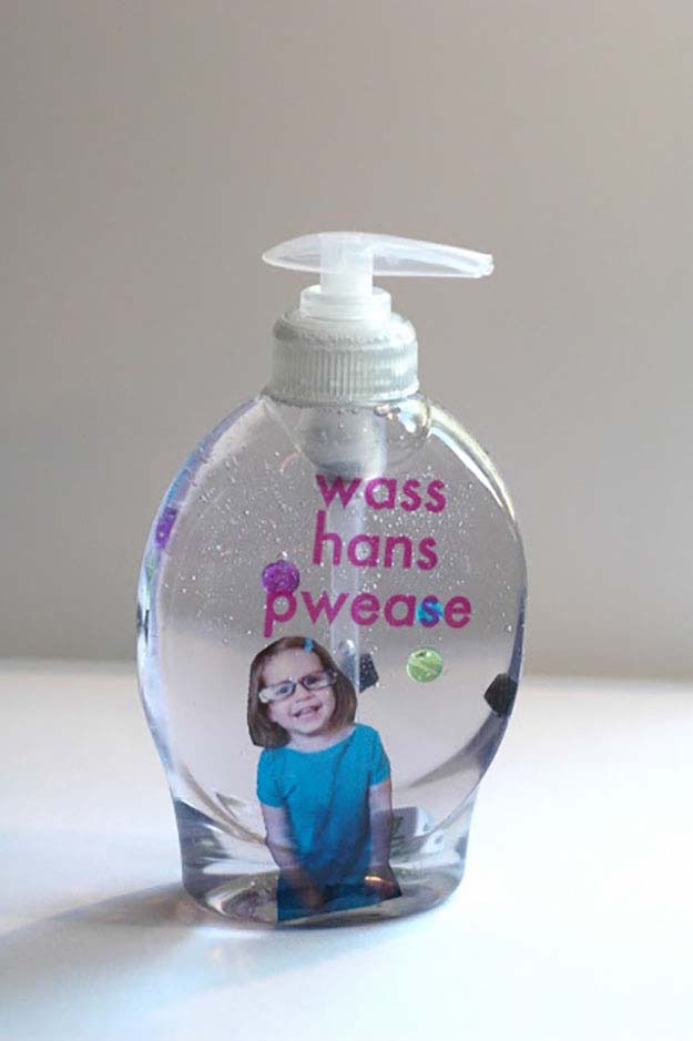 Photo fun soap dispenser