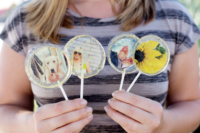 Photo lollipops