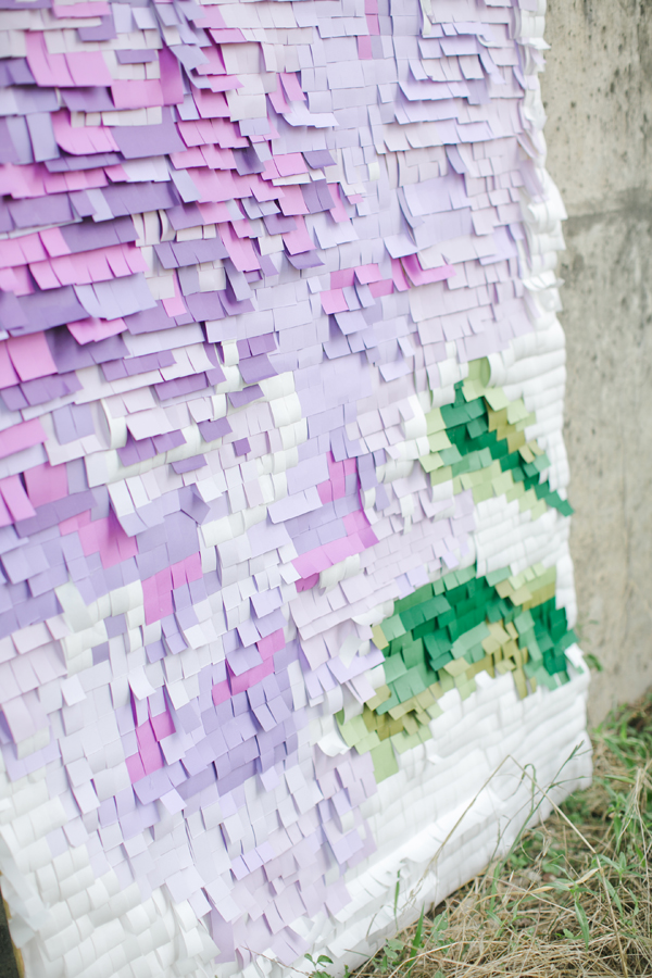 Pixelated paper backdrop