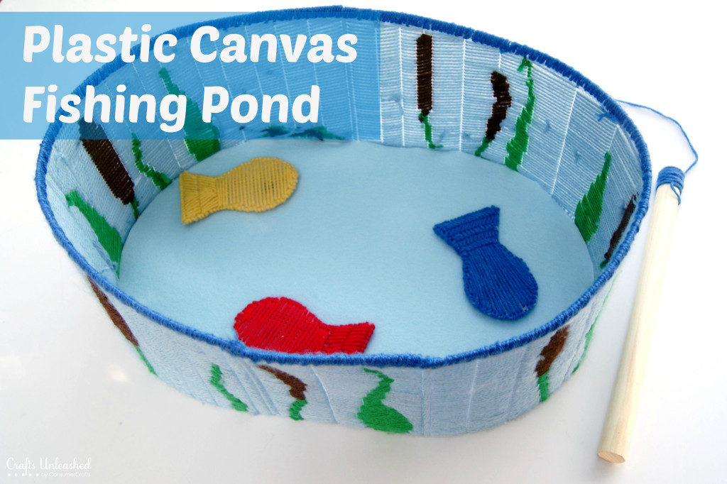 Plastic canvas fishing pond