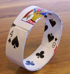 Playing card bracelet