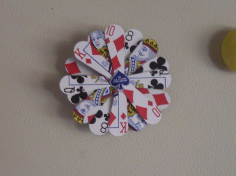 Playing card cut out magnet