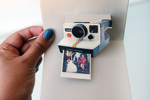 Polaroid pop up card