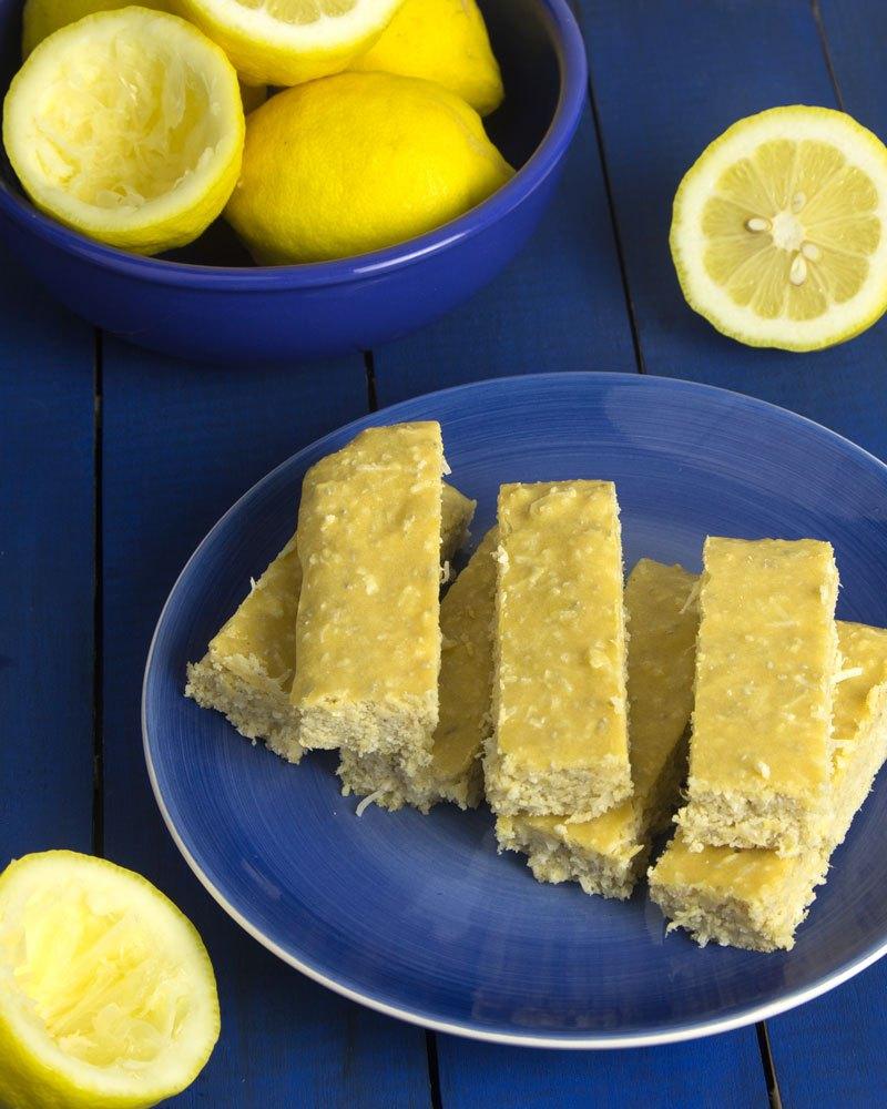 Pucker up lemon protein bars