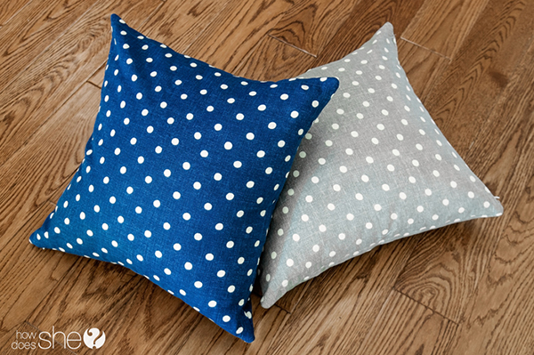 Quick pillows made from store bought napkins