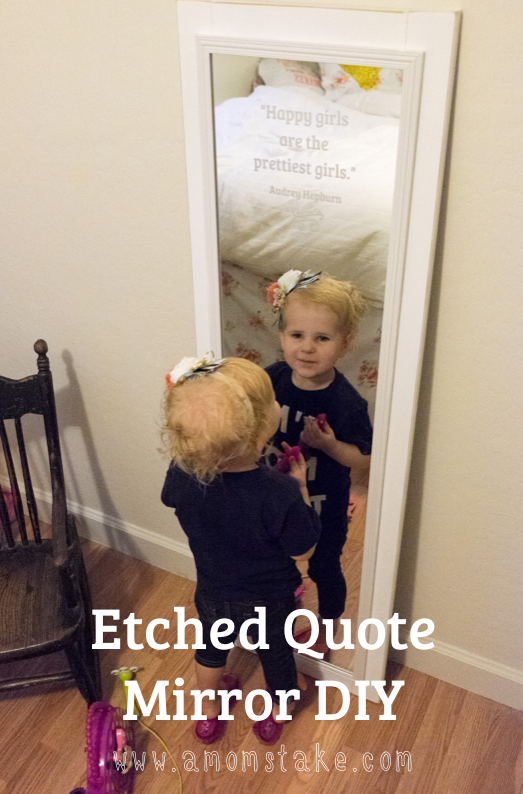 Quote etched mirror