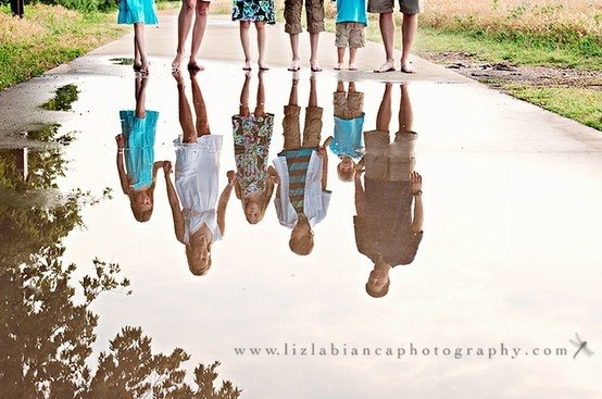 Reflection family photoshoot idea