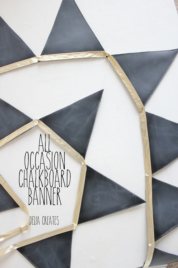 Reusable chalk bunting banner