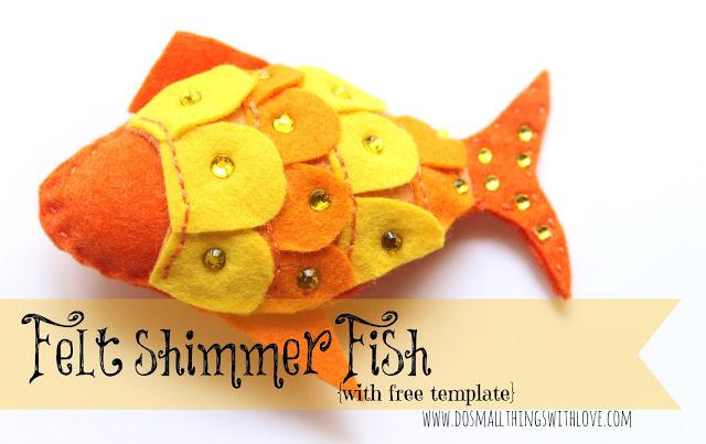 Rhinestoned felt fish plushie