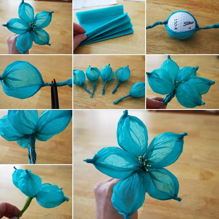 Fun crafts made from tissue paper for Flower making at home