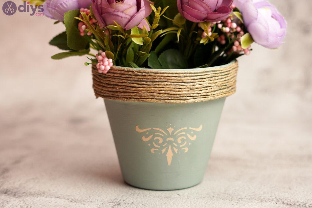 Rustic painted pot