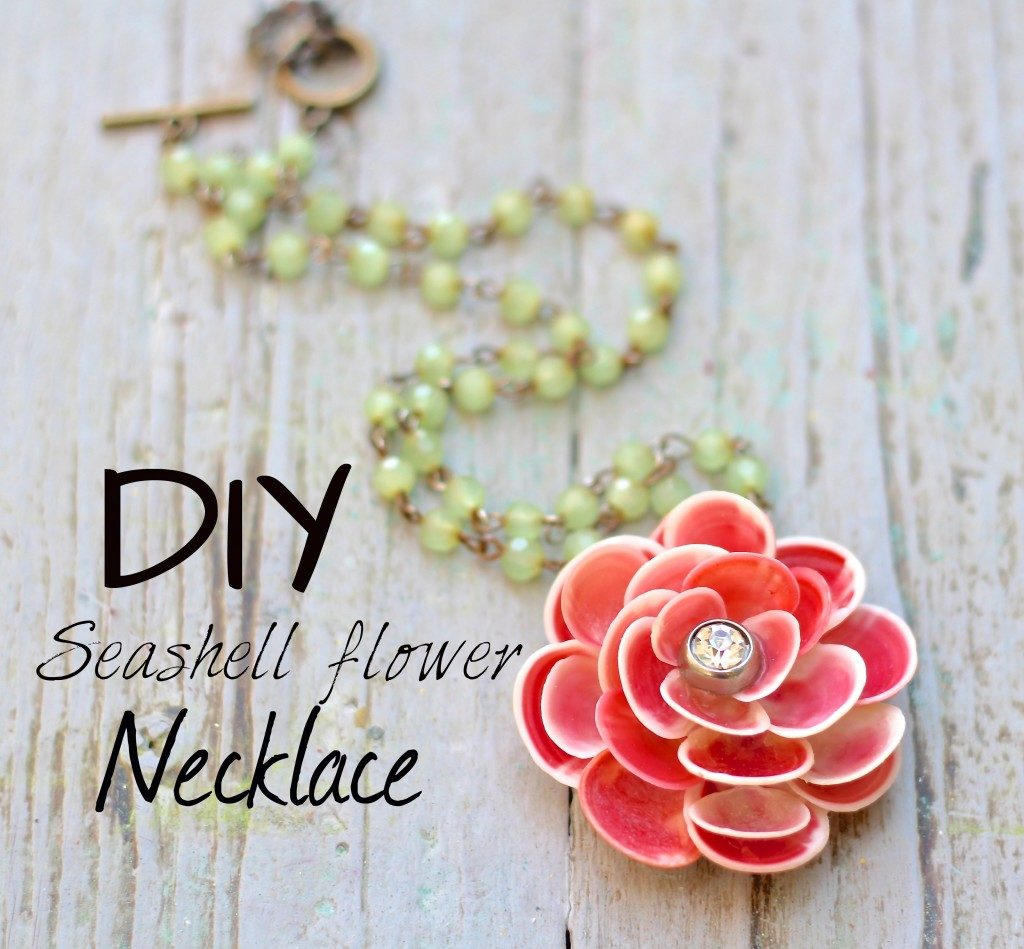 Seashell flower necklace