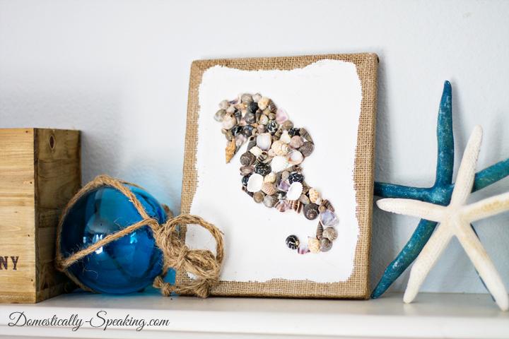 Seashell seahorse art