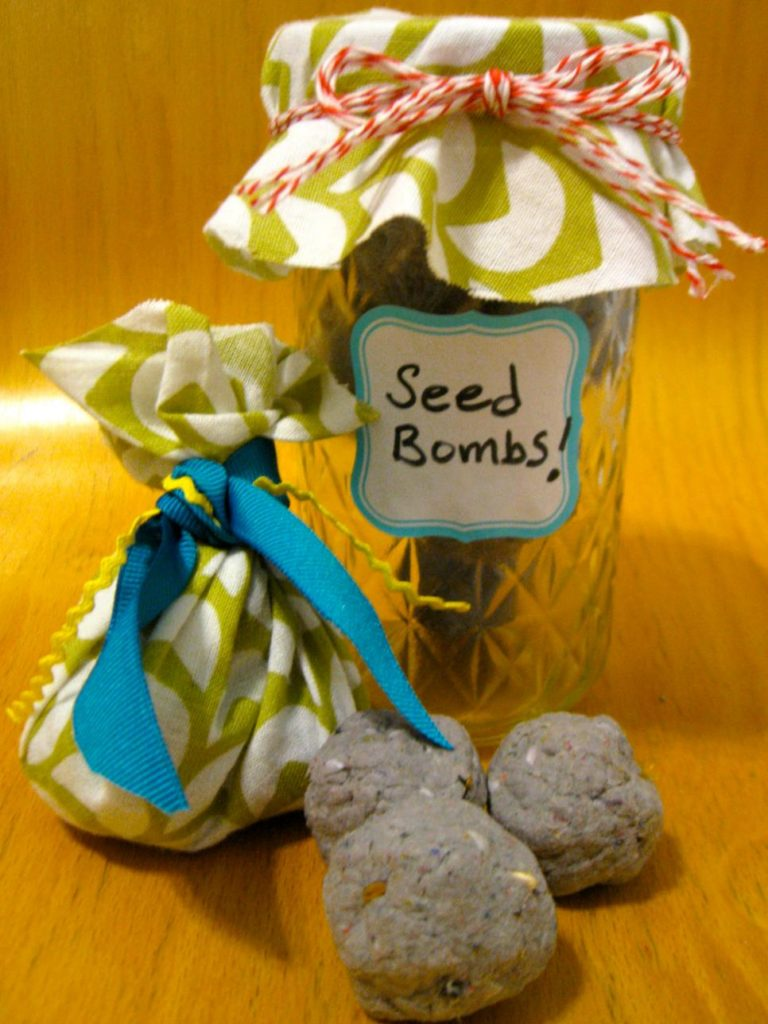 Seed bombs in a gift jar