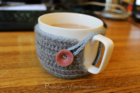 Small crochet mug cozy