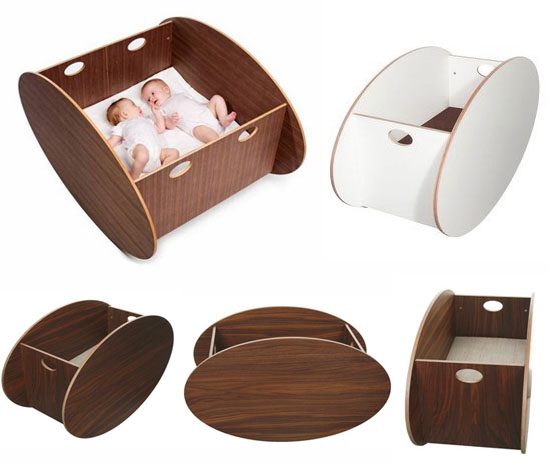 So ro modern wooden baby cradle
