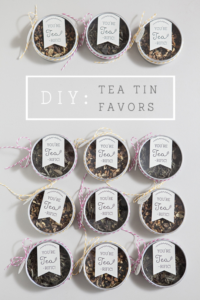 Somethingturquoise diy tea tin favor youre tea rific 0001