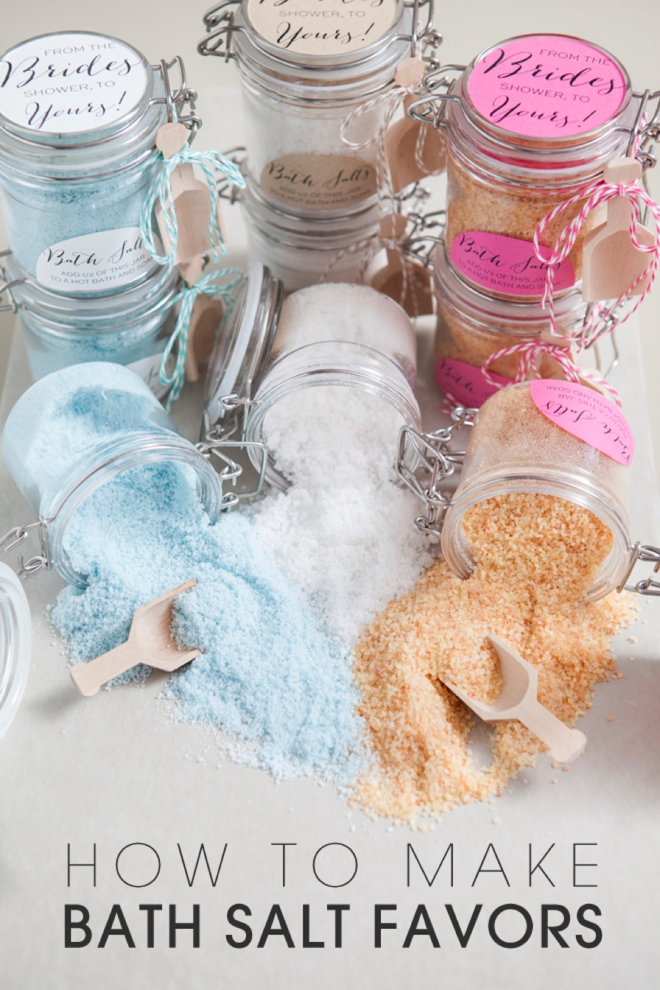Somethingturquoise how to make bath salt gifts 0001